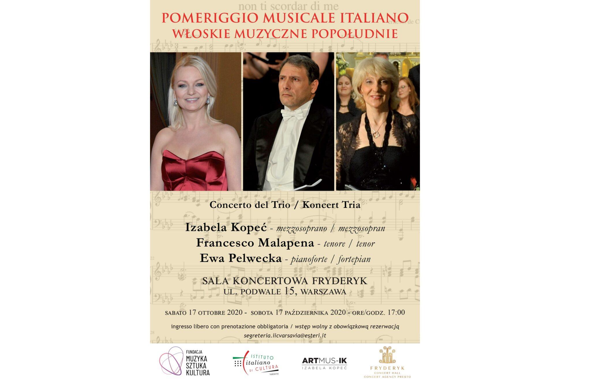 Koncert Pomeriggio Musicale Italiano – Włoskie Muzyczne Popołudnie