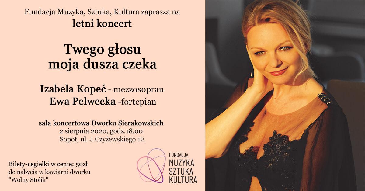 """Koncert """"Twego głosu moja dusza czeka"""" – Dworek Sierakowskich Sopot"""