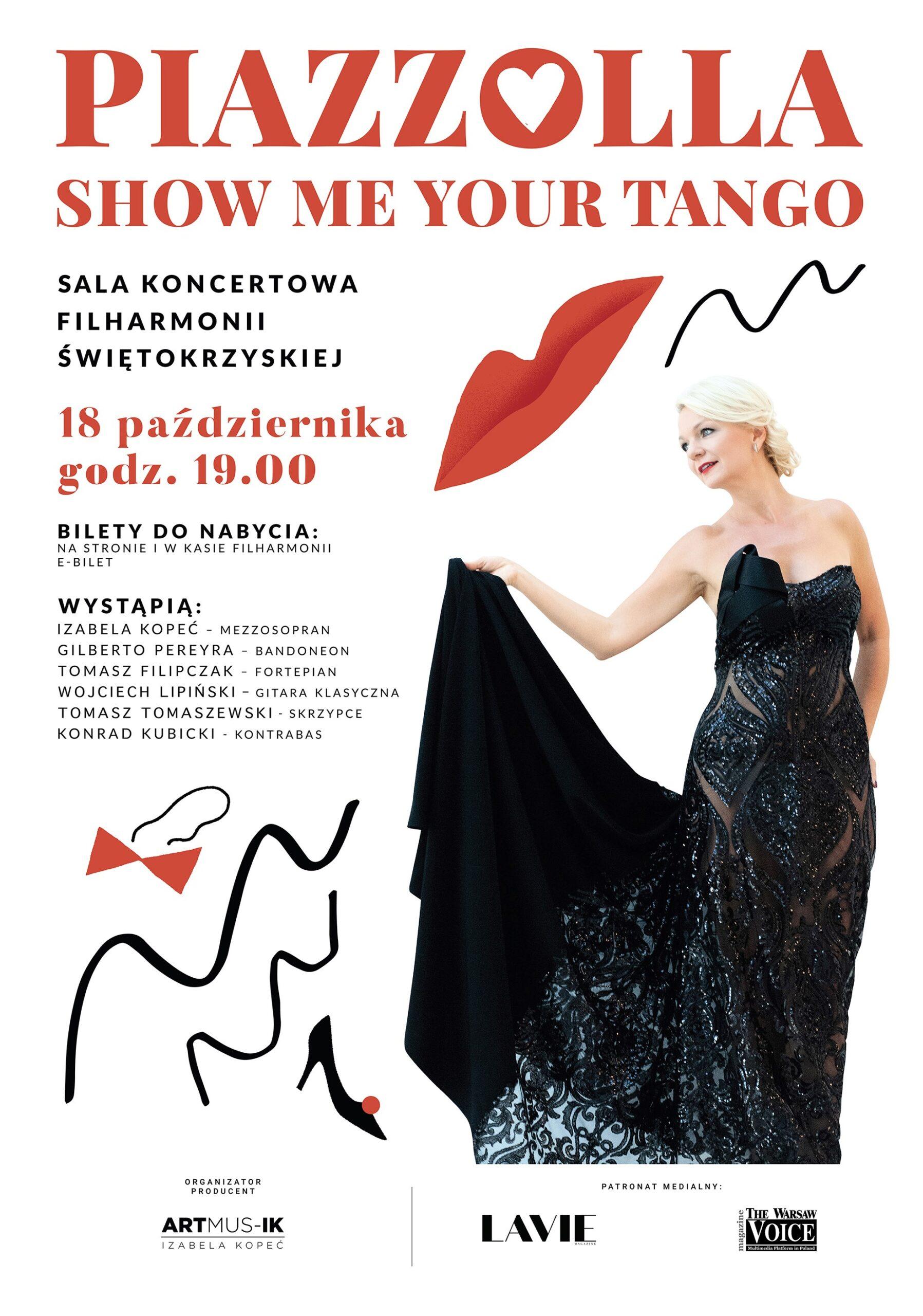 Koncert – Piazzolla. Show me your tango – Filharmonia Świętokrzyska