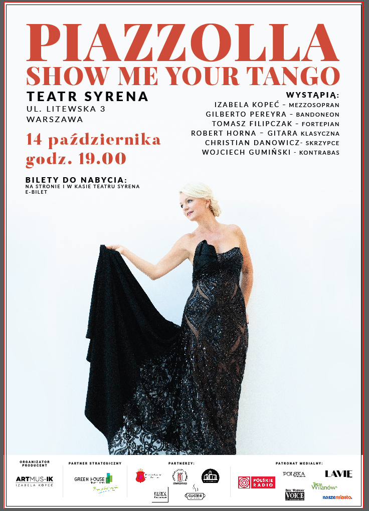Koncert – Piazzolla. Show me your tango – Teatr Syrena