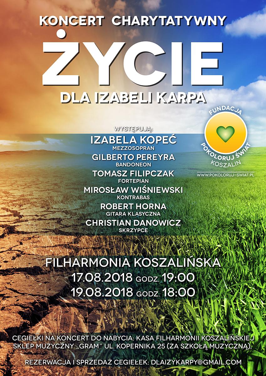 Cykl koncertów z muzyką kameralną (pieśni Astora Piazzolli) z towarzyszeniem kwintetu klasycznego – Filharmonia Koszalińska