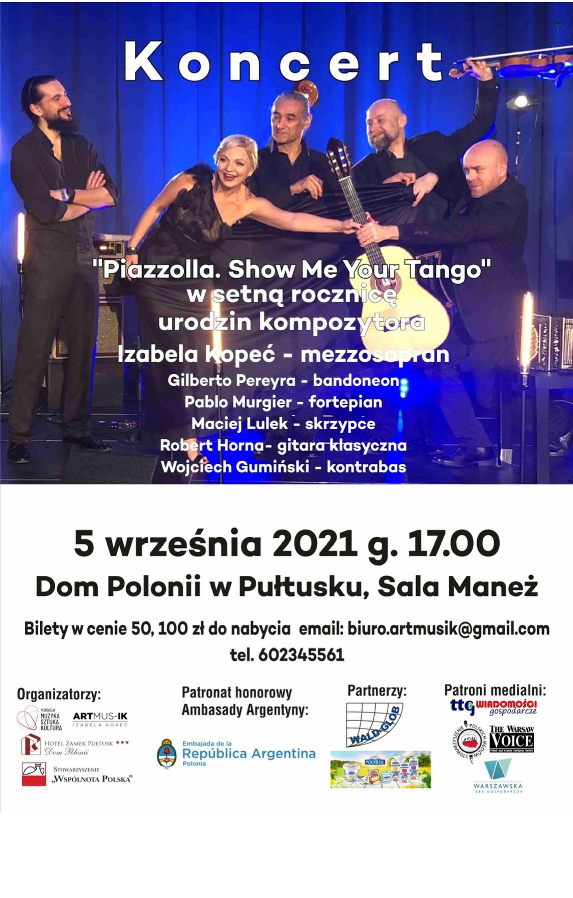 """Koncert """"Piazzolla. Show Me Your Tango"""" w setną rocznicę urodzin kompozytora"""