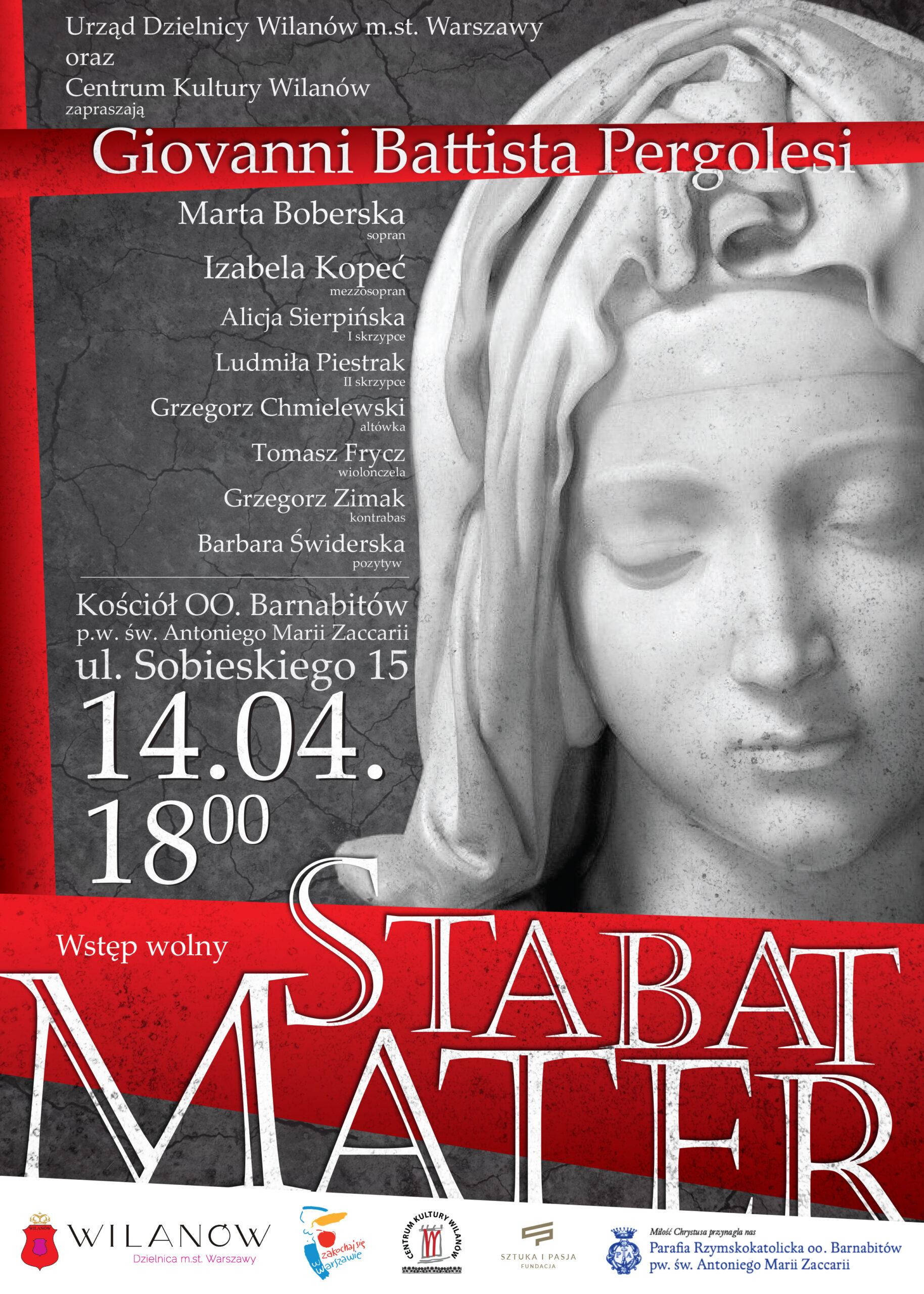 """Koncert Pasyjny """"Stabat Mater"""" – Kościół Barnabitów – Warszawa"""